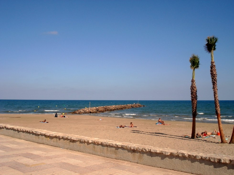 le spiaggie cittadine e il mare di valencia